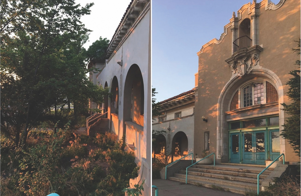 The Wasatch/Warm Springs Plunge Building was built by the Lewis T. Cannon and John Fetzer architectural firm, who also did the Park Building on President's Circle at the University of Utah (with Ramm Hansen), and the Tibetan Buddhist temple about two miles further south on 300 West. Photos courtesy of architect David Scheer of the Warm Springs Alliance.
