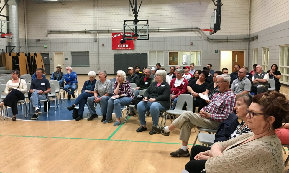 A crowd of over 50 people showed up to a public meeting organized by the Sorenson Multicultural Advisory Board last April.