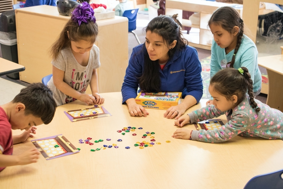 "Dioceline Maldonado, lead teacher of her 3 and 4-year-old daycare class at Neighborhood House, feels that she is ""adding a grain of change when it comes to the value of education within the family environment of these kids."""