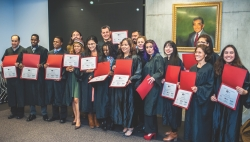 WLI: Graduates and instructors from the Fall 2016 Westside Leadership Institute cohort give presentations and pose for photos at the University of Utah at their graduation program.  Photos by David Ricketts|||