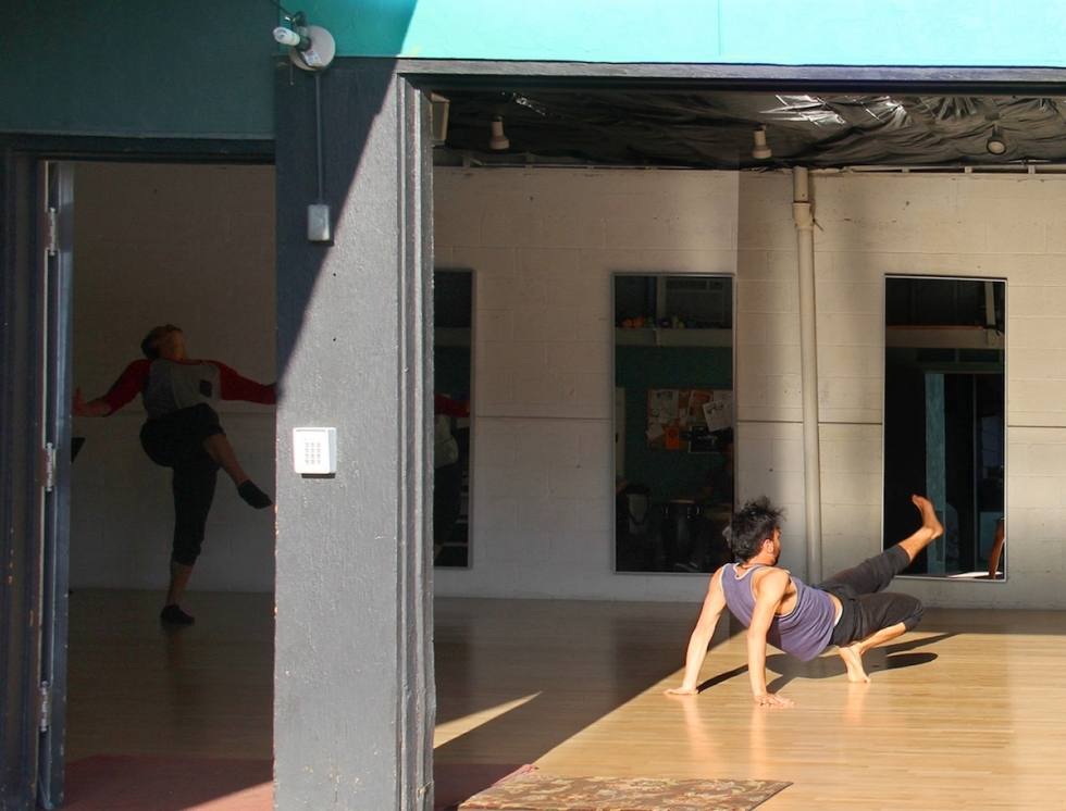 The green Studio Building is ideal for dance with its sprung wooden floor, courtesy of Ballet West and the uncounted volunteers who installed it section by section.