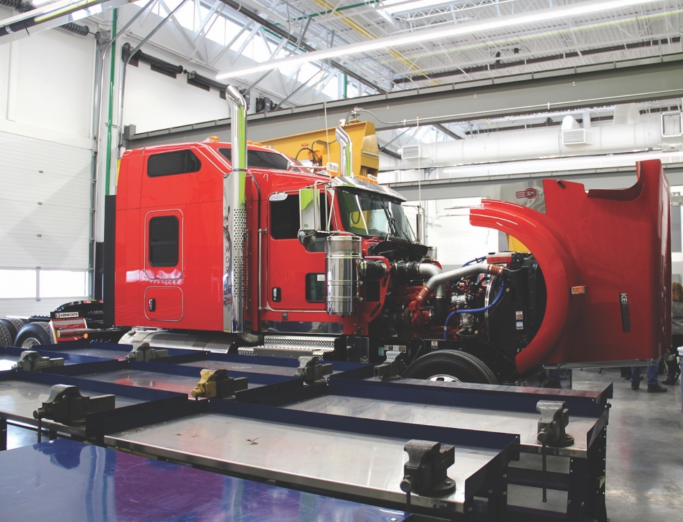 The Kenworth Sales Co. has generously provided trucks and other equipment for training future mechanics and drivers at SLCC's Westpointe Workforce Training and Education Center located near the SLC Airport.    Photo courtesy of Salt Lake Community College