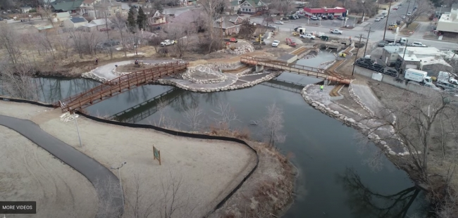 Construction progresses on Three Creeks Confluence Park