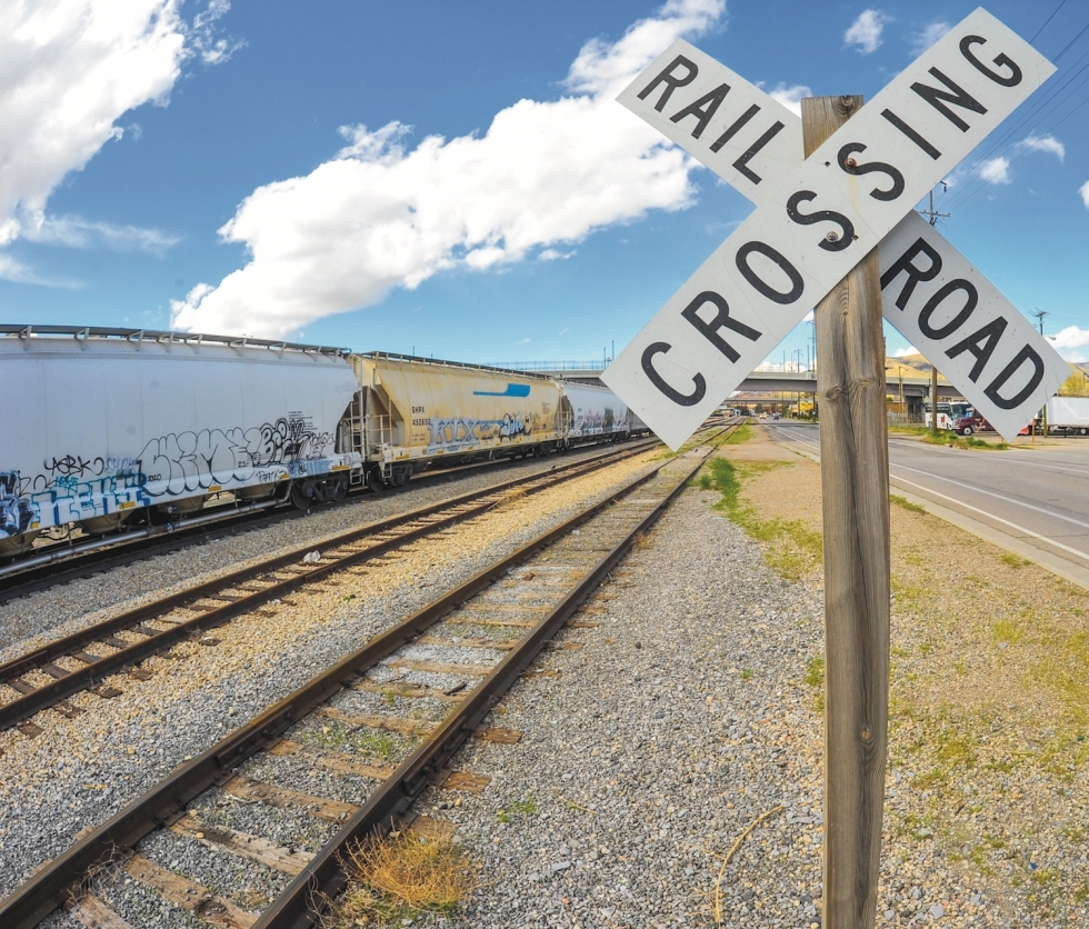 The west side has eight registered main grade crossings. With dozens of smaller crossings, facing train traffic can be a frustrating, regular occurrence on the west side. Photo by David Ricketts