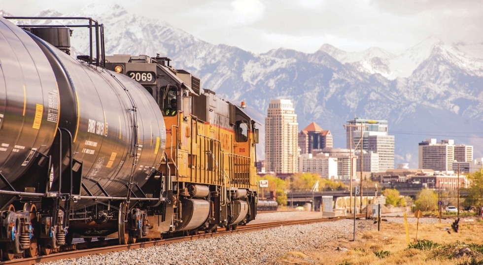 """One of the defining features of the west side of Salt Lake City is the network of railroad tracks – miles and miles of steel snaking across the valley floor.  The railroad united our country, but divided our city into """"right"""" and """"wrong"""" sides of the tracks.  Photo by David Ricketts"""