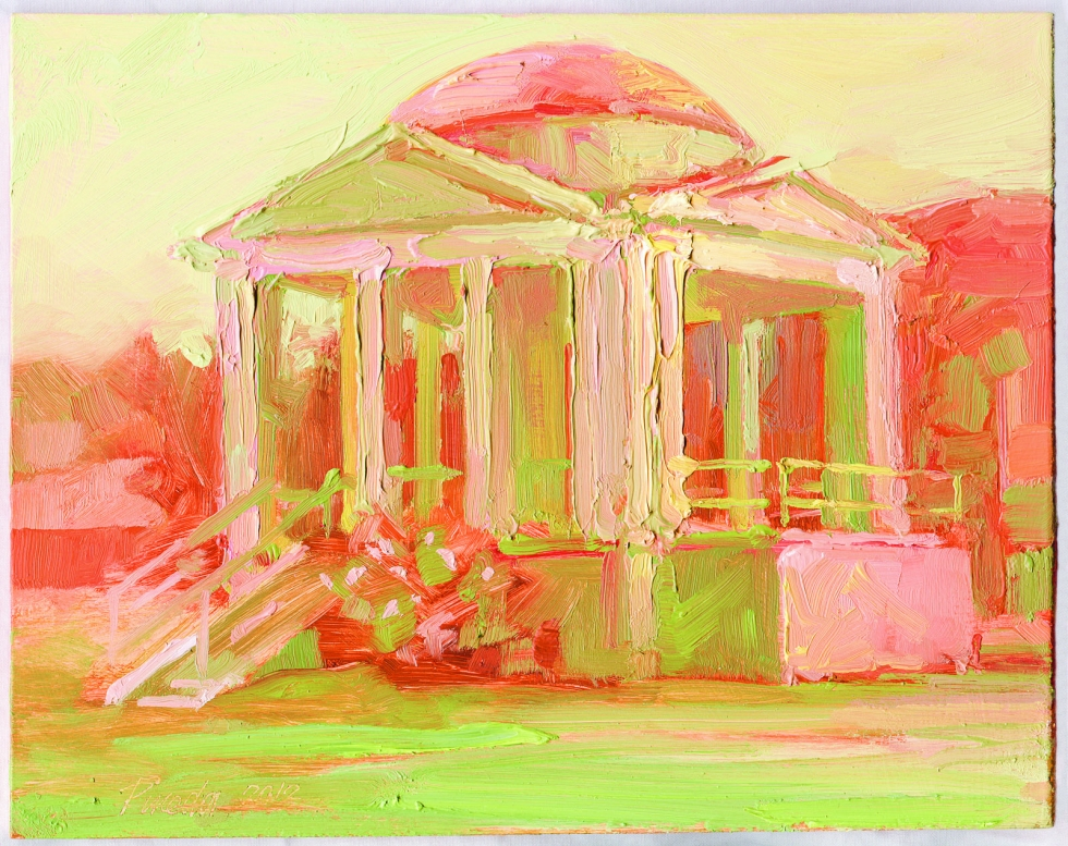 Historical Bandstand A.K.A. The Gazebo (Painting by Ann Pineda) Photo by Michael Evans