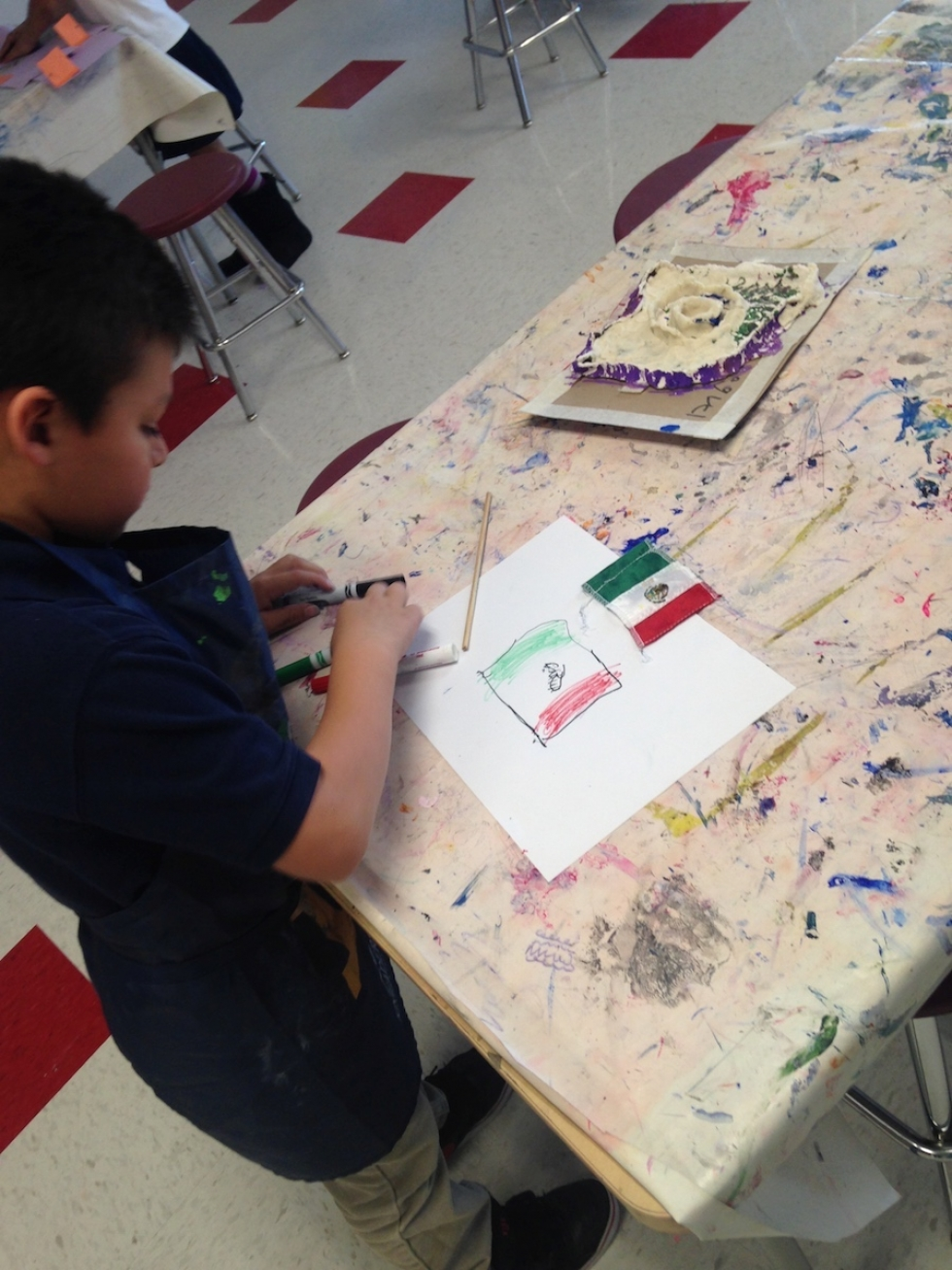 A student at Guadalupe School uses art to explore his culture and embrace diversity.