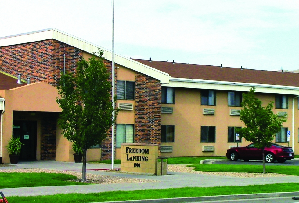 Since 2017, 15 eviction notices were filed at Freedom Landing Apartments, a subsidized housing project for veterans transitioning out of homelessness.  Photo by Michael Evans