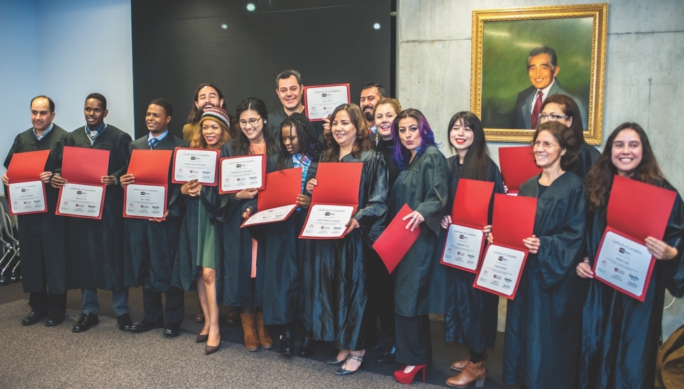 WLI: Graduates and instructors from the Fall 2016 Westside Leadership Institute cohort give presentations and pose for photos at the University of Utah at their graduation program.  Photos by David Ricketts