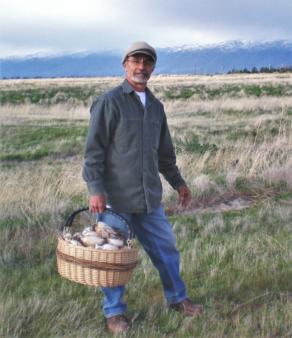 Dan Potts forages for mushrooms. – The Wild Foods Foraging class, taught by Dan Potts, meets twice a year in Spring and Autumn for six sessions each and is limited to just over two dozen participants. Photo courtesy of Dan Potts.