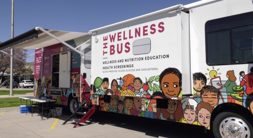 U of U Health and Mobile Wellness Bus set up for the free COVID-19 testing event held in May at the Utah State Fairpark.  354 people were tested at this event.  Photos courtesy of SLCtv Media|||||