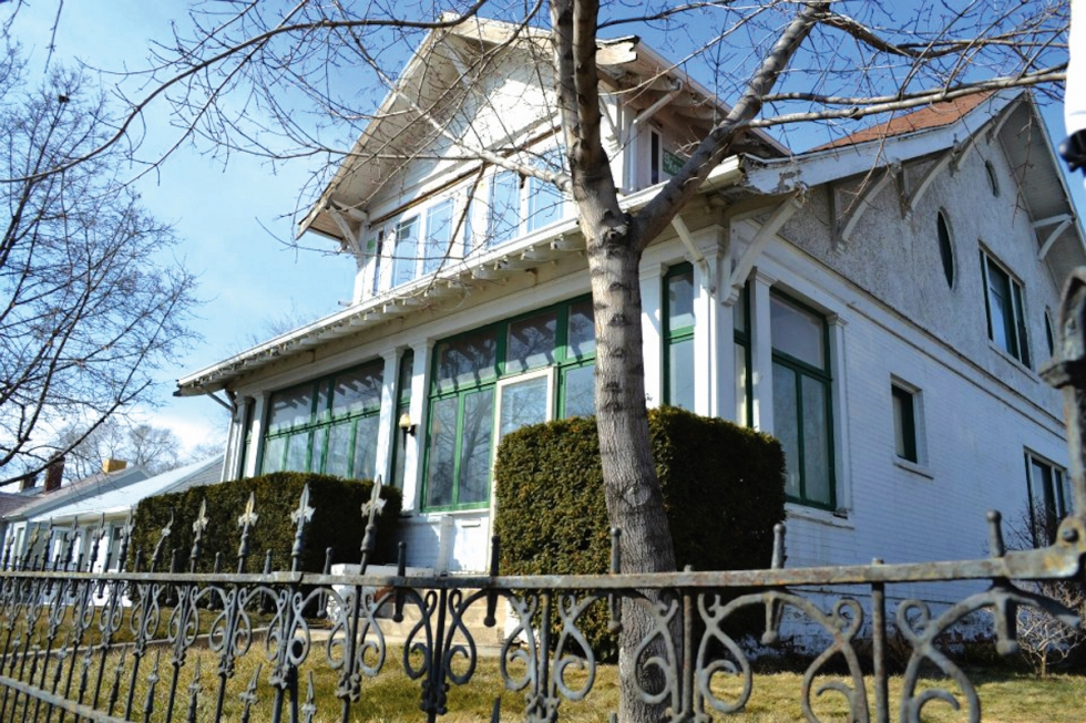 This craftsman style home, built in 1910, is one of the largest on the block.  Archived photo by Deepa Kumar